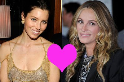 "Mutual girl crush alert! Julia Roberts and Jessica Biel both have the hots for each other, so we reckon they should make a go of it. In 2010, Jess revealed: ""I hear she has a girl crush on me and I definitely have one on her. I think she is amazing. Although I did panic for a while because I sent her a text and she didn't reply for a while. But we're fine now."""