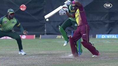Gayle's one-handed catch leaves commentators stunned