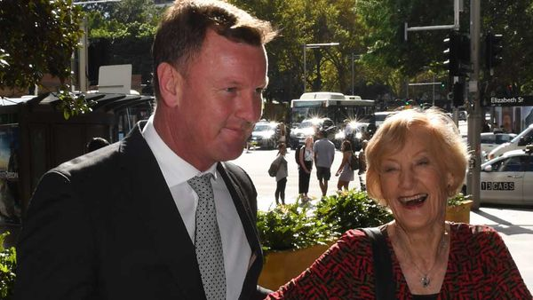 Anthony Bell shares a laugh with his 85-year-old mother. (AAP)