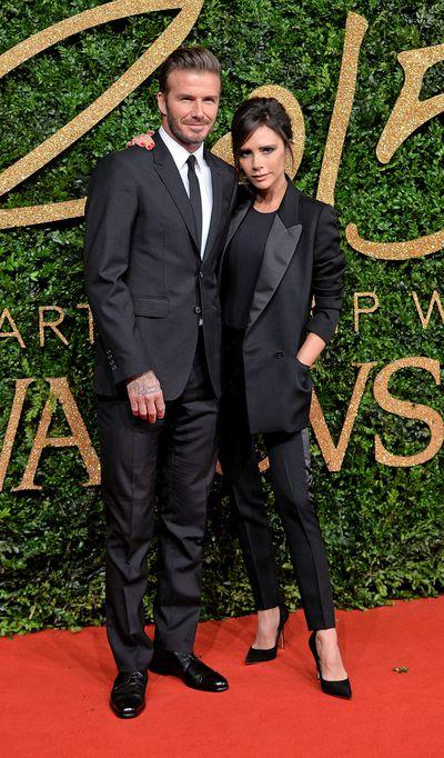 <p><strong>Black Tied Up</strong></p> <p>David  and Victoria Beckham at the British Fashion Awards 2015 at London Coliseum on November 23.</p>