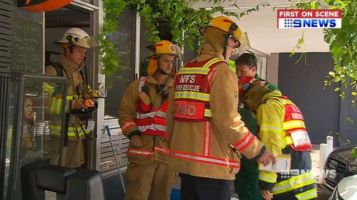 Fire crews had to isolate the barbershop and contain the highly dangerous area the acid had spilled.