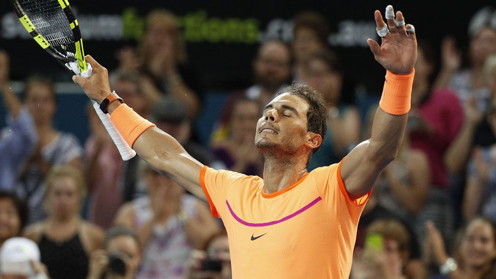 Rafael Nadal scored a straight sets win in Brisbane. (AAP)