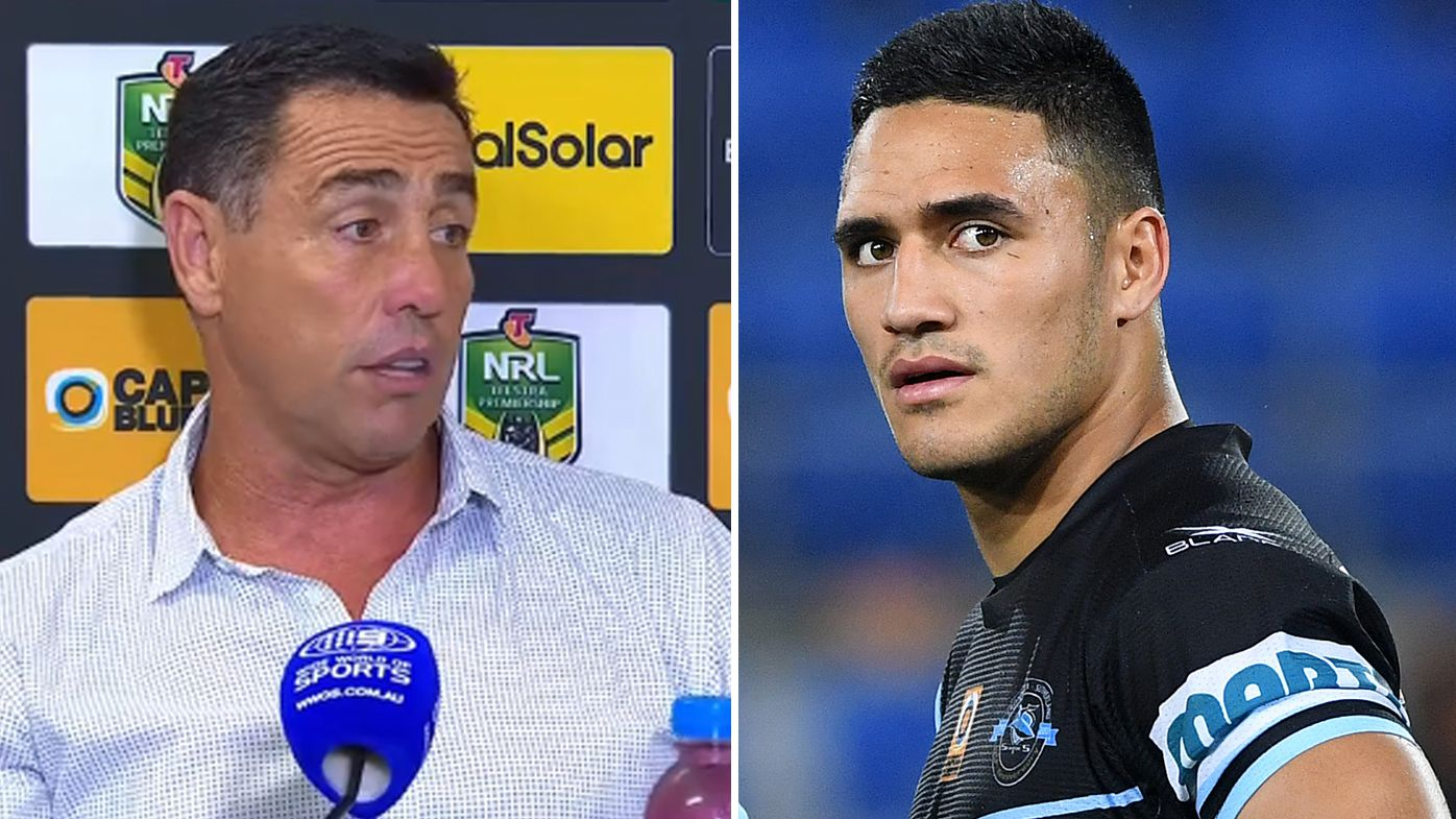 Cronulla Sharks coach Shane Flanagan hits back at journalist's questions about 'unhappy' Valentine Holmes