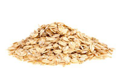 Oats: 1/2 cup has 14g carbs, 2g fibre, 80 calories