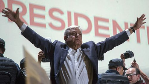 Andres Manuel Lopez Obrador  has won a landslide victory in Mexico. Picture: AP