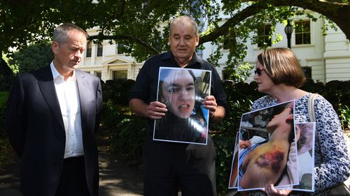 Disability abuse victim families met with Bill Shorten, urging the government to launch a full-scale inquiry into the issue