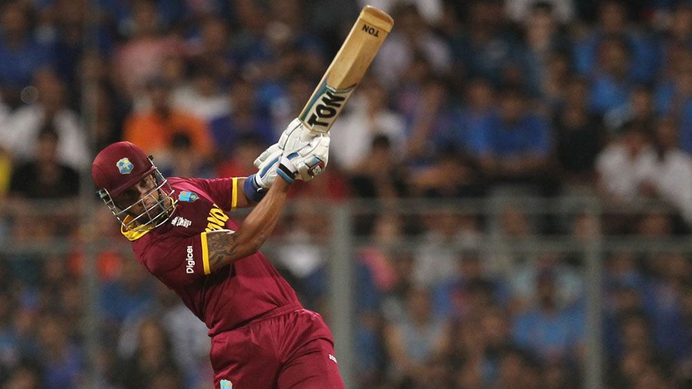 Lendl Simmons starred for the West Indies in the semi-final win over India. (AAP)