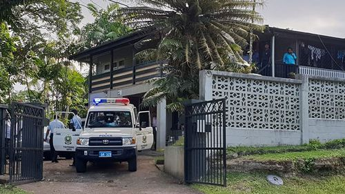 A crime scene has been set up at the Fijian home of Australian woman Jennifer Downes.