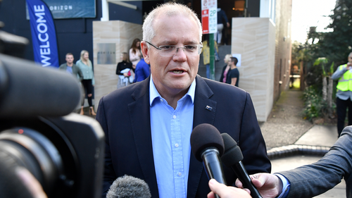 Scott Morrison following his election win