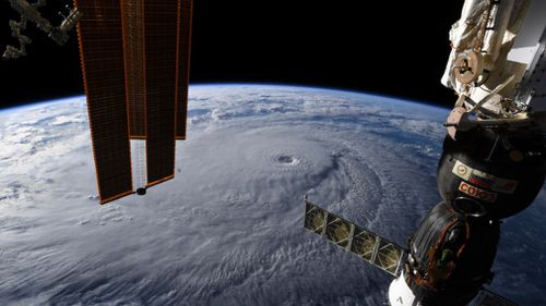 NASA captures imagry of Hurricane Lane as seen from the International Space Station.
