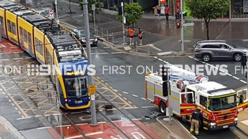 The crashed happened at a Surfers Paradise intersection. (9NEWS)