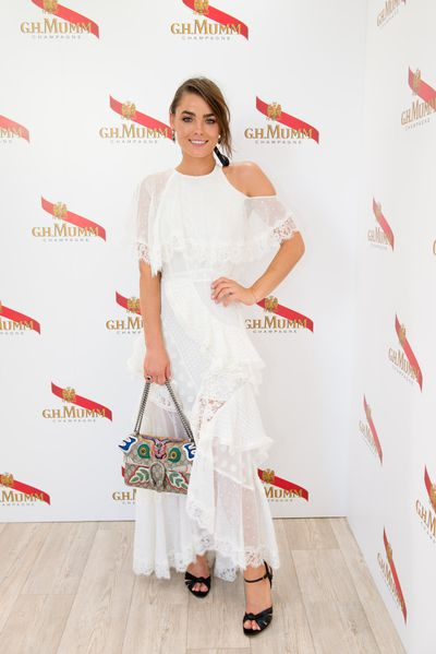 <p>No. 2 Fresh take</p> <p>Model Bambi Northwood Blyth in Zimmermann with Gucci bag in the Mumm marquee.</p>