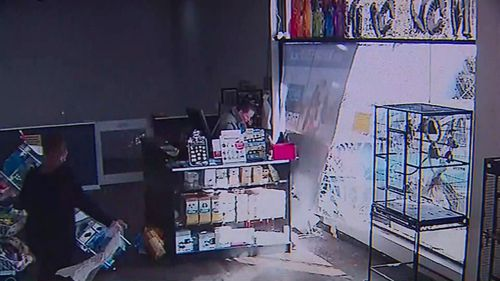 The driver accidentally reversed into the pet store in Adelaide's southern suburbs. Picture: 9NEWs
