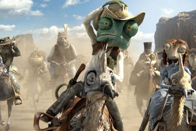Katy Perry's Smurfette or Jack Black's Po couldn't outsmart Johnny Depp's Rango.