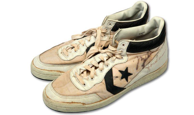 6a3bcef76fa3 Michael Jordan s gold medal-winning Converse shoes to fetch  134