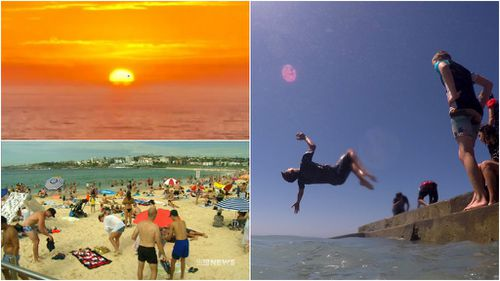 Many sought respite from the heat at NSW's beaches. (AAP)