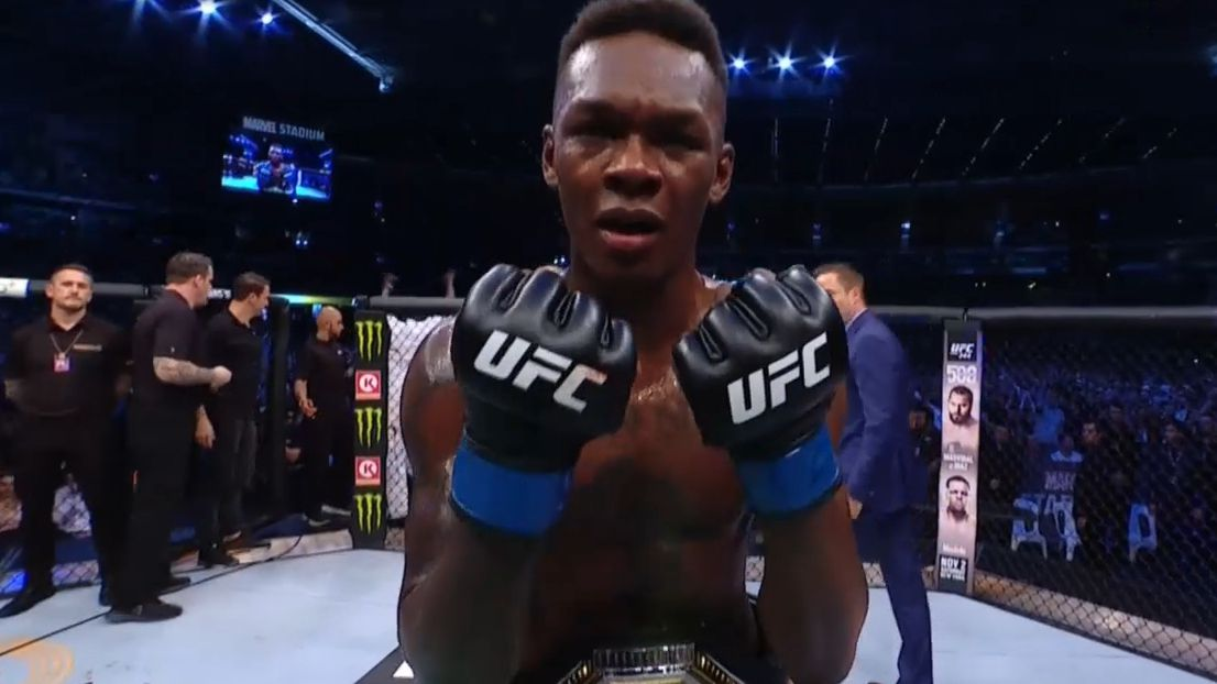 Israel Adesanya cements status as UFC star by claiming undisputed middleweight title