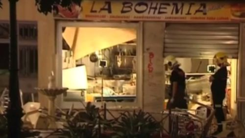 The blast occurred at La Bohemia cafe. (9NEWS)