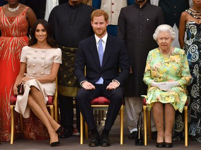 Meghan Markle, Prince Harry and the Queen