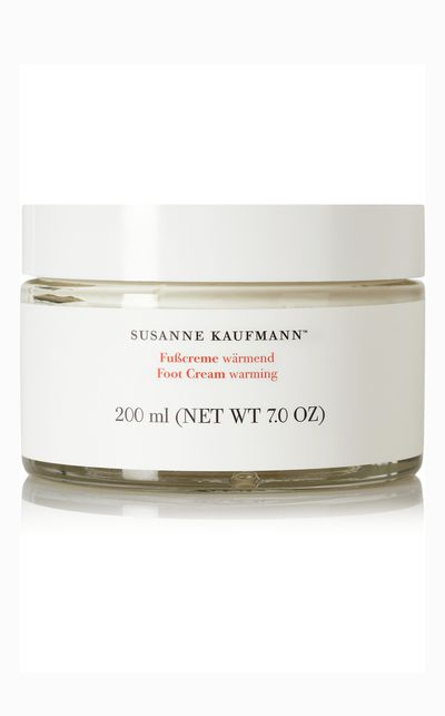 "<em><a href=""http://www.net-a-porter.com/product/463673/Susanne_Kaufmann/warming-foot-cream-200ml "" target=""_blank"">Susanne Kaufmann Warming Foot Cream</a></em> - A rich cream that'll boost circulation and revitalise rough, tired feet.<br><br><div> </div>"