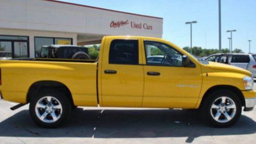 Ms Monte's distinct yellow pick-up truck. (Matthew Stevens)