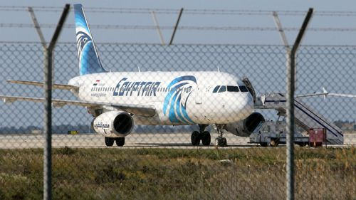 The A320 on the tarmac at Larnaca airport. (AAP)