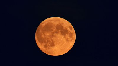 The moon in northern France. (AAP)<br>