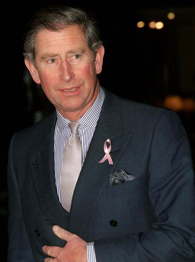 Prince Charles, Patron Of The Charity Breakthrough Breast Cancer, Opening Their New Centre In London. The Ribbon On His Lapel Is The Symbol For The Campaign (Photo: December, 1999)