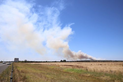 The fire is moving in a northerly direction towards Adams Estate.