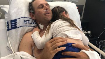 The father-to-five had been using a shovel while working with a grain auger when he slipped.