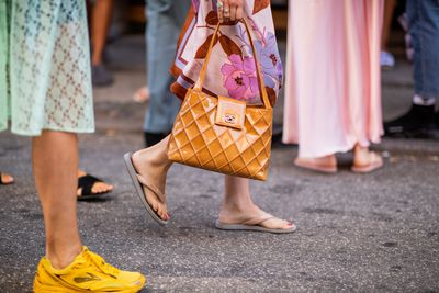"Crown Princess Mary can put her court shoes up and breathe a sigh of relief because Denmark is having a serious fashion moment.<br /> <br /> The Danish capital&rsquo;s annual fashion week is in full swing with a cooler and less studied street style vibe than New York and Paris, it&rsquo;s the perfect inspiration for fashion types in Brisbane, Sydney, Adelaide and Perth to copy. <br /> <br /> To combat the hot European summer the Danish style set have embraced an unusual footwear choice &ndash; Havaianas.<br /> <br /> The Brazilian flip flops have been almost impossible to miss as Denmark&rsquo;s most coveted influencers pair them with everything from maxi dresses to capri pants in the front-row of designers such as By Malene Birger and Ganni.<br /> <br /> Havaianas were created by Scotsman Robert Fraser in 1962. Since booming in the &lsquo;90s the brand has become the number one flip-flop brand in the world with over 200 million pairs being sold per year.<br /> <br /> It remains to be seen whether the rubber thongs will replace <a href=""https://style.nine.com.au/2017/10/12/10/25/slides-footwear-summer-spring-fashion"" target=""_blank"" title=""pool slides"" draggable=""false"">pool slides</a> and Yeezy sneakers as the new off-duty IT shoe. But for now take a some style inspiration from the Danish street style set  from 2018 Copenhagen Fashion Week."