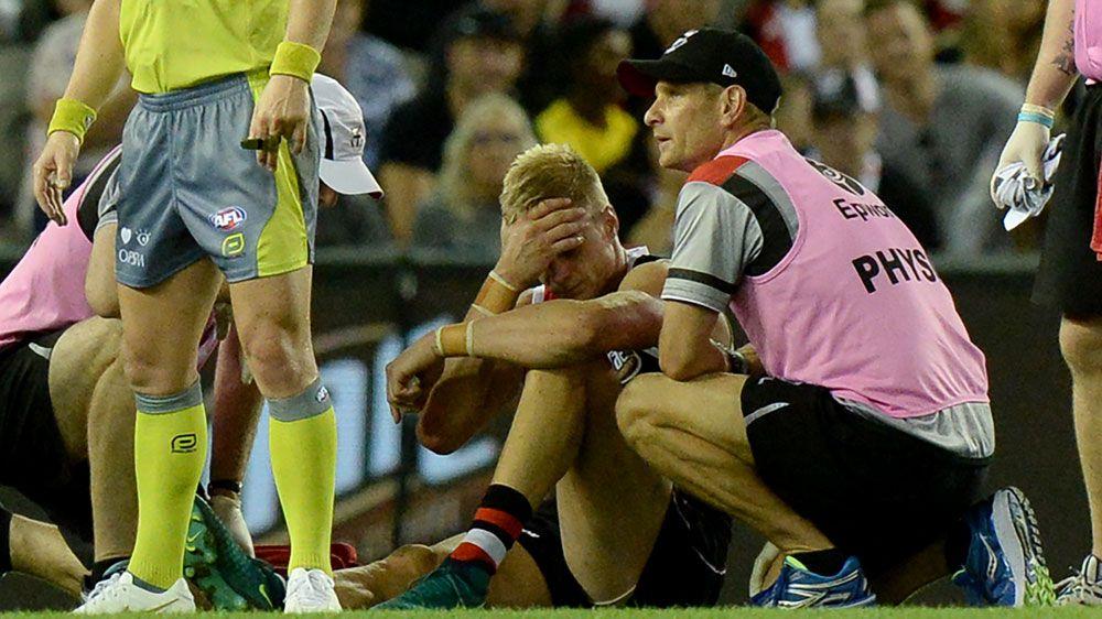 St Kilda veteran Nick Riewoldt hurt as Melbourne Demons beat Saints