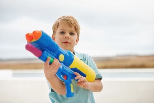 Childcare centres are banning toy weapons including guns, pirate swords and bows and arrows. With the Australian Childcare Alliance considering widespread policies of a similar nature. Picture: Getty