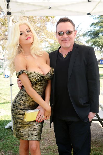 Doug Hutchison and Courtney Stodden at Exposition Park on September 21, 2014 in Los Angeles, California.