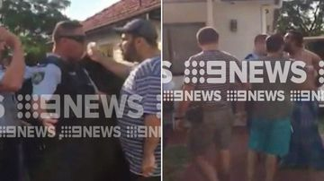 Two people have been charged following a scuffle with paramedics in Sydney's Inner West.