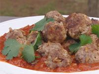 Lamb and rice meatballs