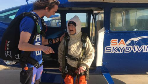 Irene preparing for her jump. (Christine Ahern)