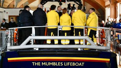 William Kate The Mumbles Lifeboat visit to South Wales