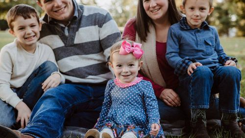 The Rogers family prior to her death. (Benefit for Adalynn Rogers / Facebook)
