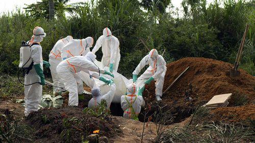 Graves are dug to bury Ebola victims in Beni, Democratic Republic of Congo.
