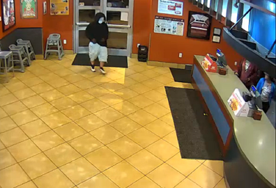 Louisville Metro Police Department robber enters the restaurant