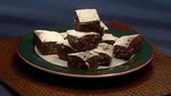 Chocolate nougat brownie