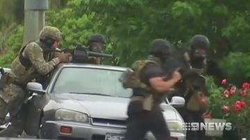 A seige in Tasmania has come to a dramatic end.