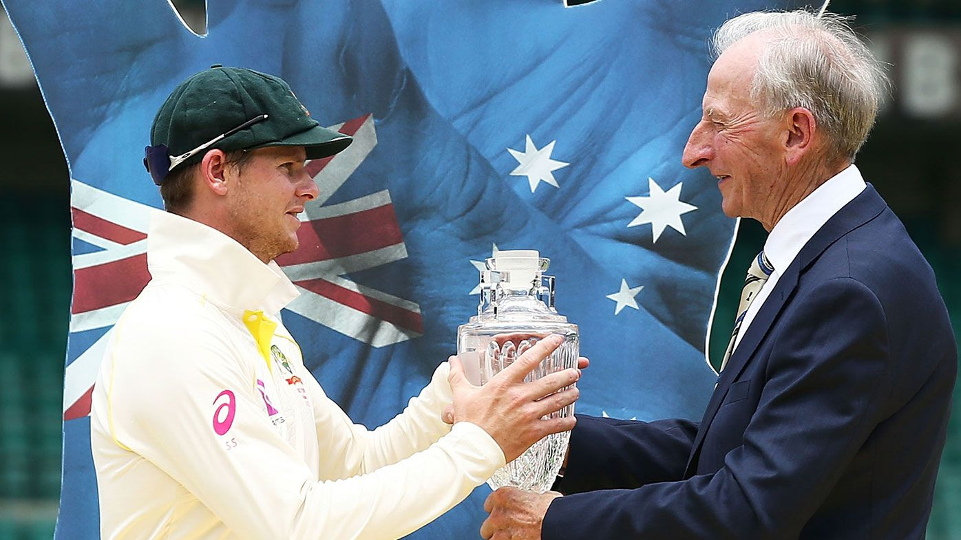 Steve Smith (left) and Bill Lawry