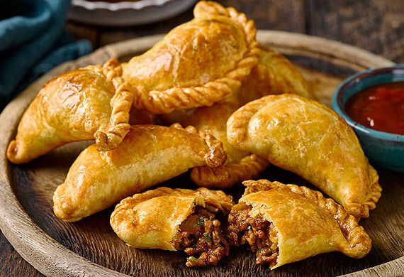 Spiced beef and olive empanadas