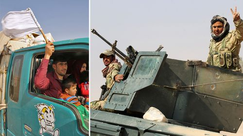 ISIS fighters trickle out of Iraq's Mosul as losses mount