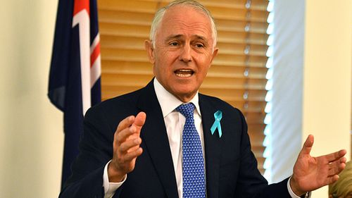 """Mr Turnbull welcomed the Coalition back to Canberra for another year and promised """"a year of delivery"""" on economic growth (AAP)."""