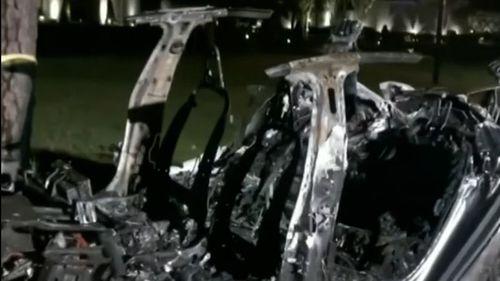 Tesla driverless car crash