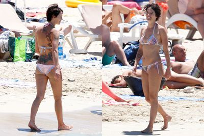 Lena Headey, 41, ditched her <i>Game of Thrones</i> winter robes for a cute bikini at the beach in Ibiza.