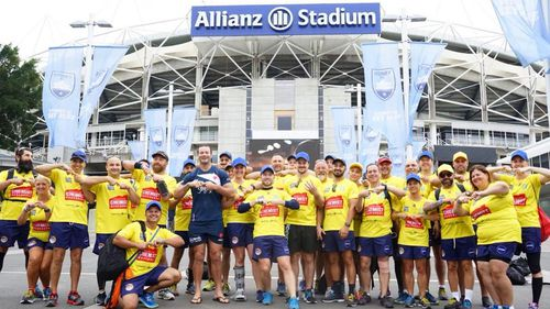 Walkers kicked off at Allianz Stadium this morning. (Save our Sons Duchenne Foundation)